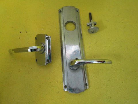 Art Deco Front Door Lock with Lever Handles