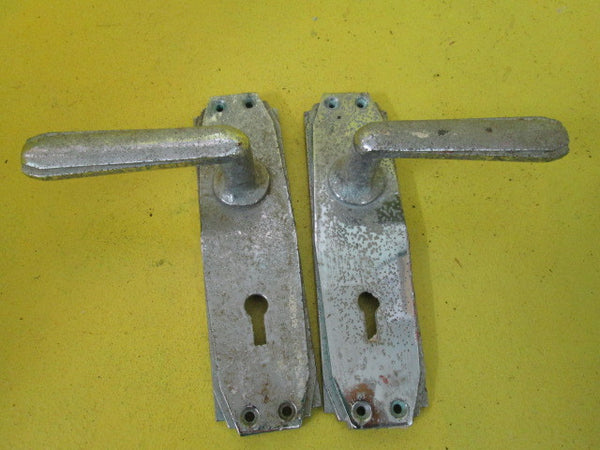 Art Deco Long Plate Lever Handles