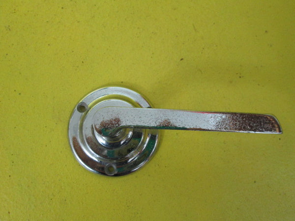 Art Deco Lever Handle with Circular Plate