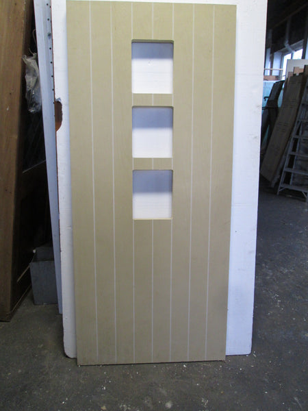 Modern T & G Door with 3 Panels cut out for windows 1950L x 860W x 40D