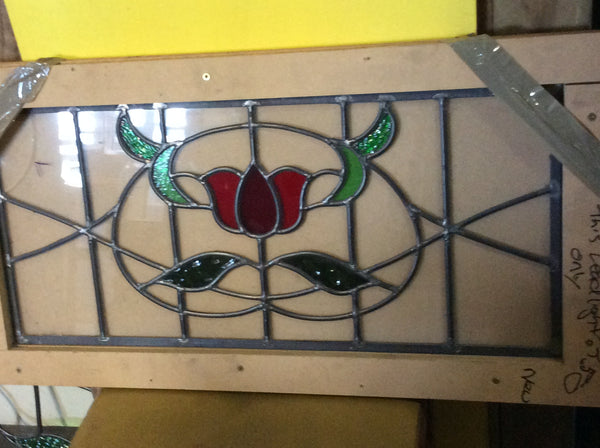 Art Nouveau Large Tulip Panel 290H x 510W