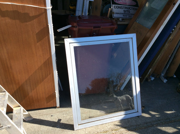 Silver Aluminum Window Opening