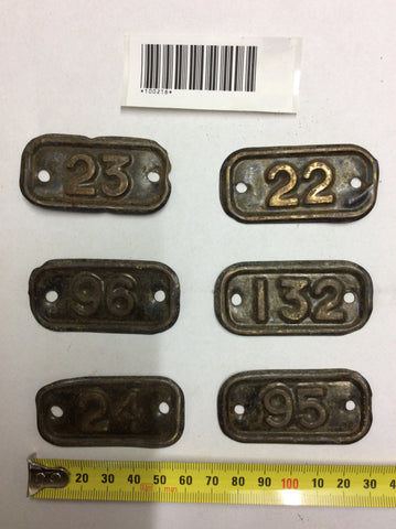 Antique labels with numbers(60L x 25W)
