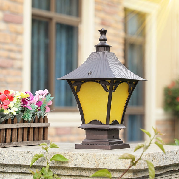 Outdoor pillar lamp doorpost wall light