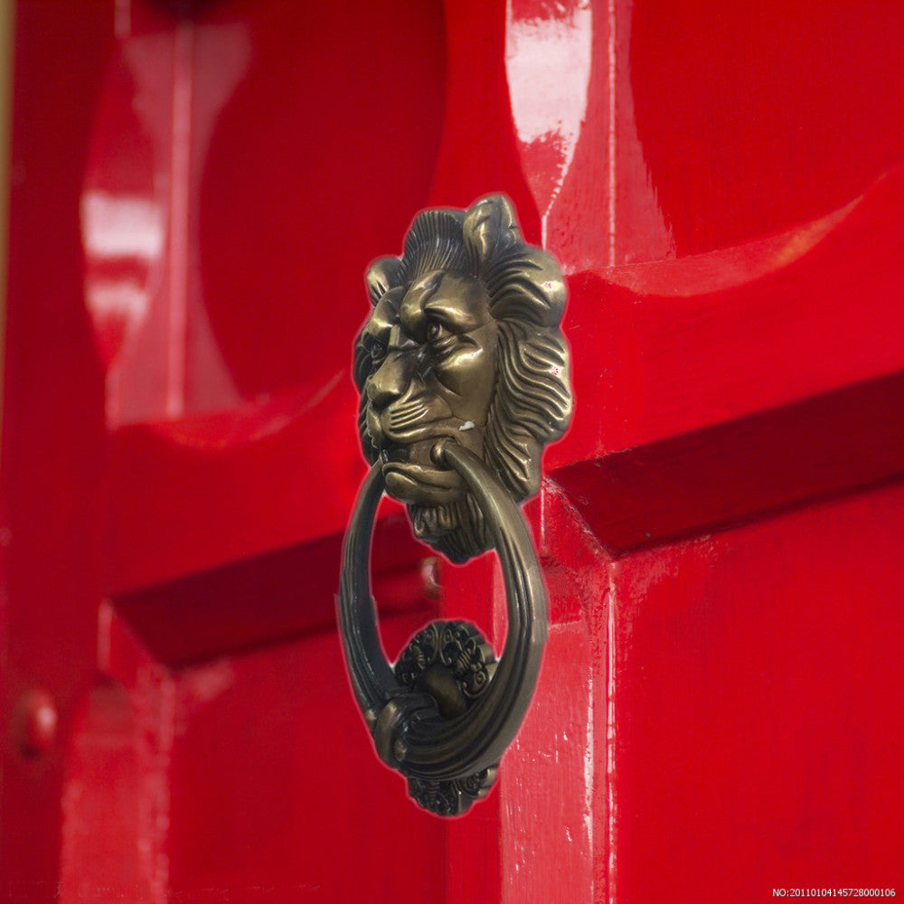 UNILOCKS 20cm Large Antique Lion head Door Knockers