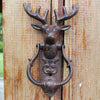 Antique Rustic Reindeer Head door bell