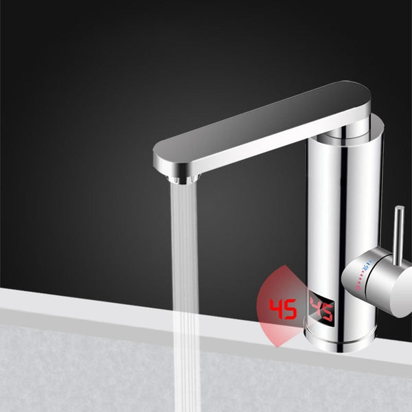 Kitchen Instant Electric Hot Water Heater  Led Faucet Luxurious  3 Seconds Fast