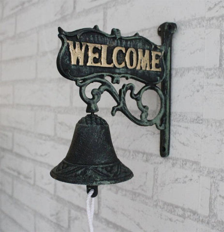 Nordic country welcome cast iron bell