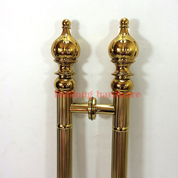 Interior door antique  sliding door handle titanium colour 800mm