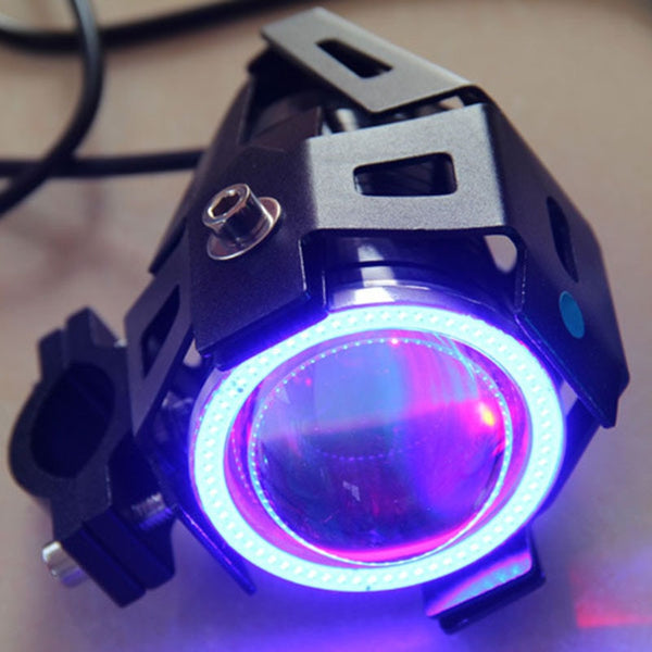 1PCS 125W 12V U7 LED Motorcycle Headlight 3000LM Upper Low Beam Flash