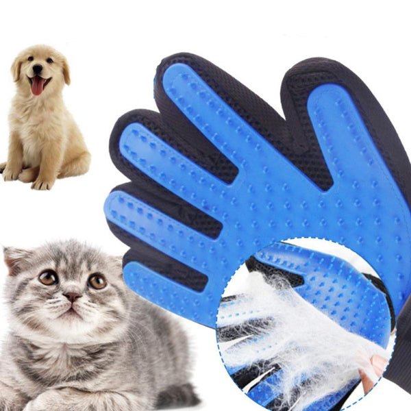 Silicone Dog Hair Removal Glove Comb Soft Use Pet Cats
