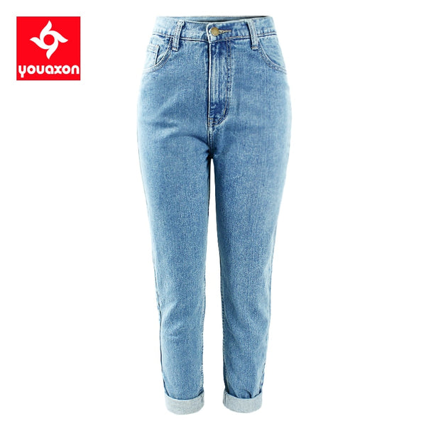 1886 Youaxon 100% Cotton Vintage High Waist Mom Jeans/Boyfriend