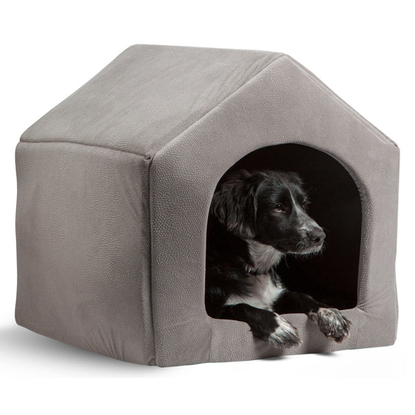 Luxury Dog/Cat House with Cozy Bed