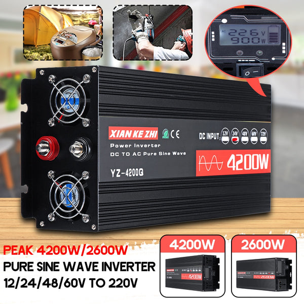 Inverter 220V 12V/24V/48/60V2600/4200W +LCD Display