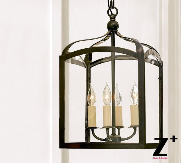 LED Pendant  iron 4 lights GOTHIC INDOOR OUTDOOR  LANTERN
