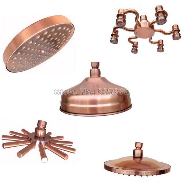 Rainfall Shower Head Antique Red Copper Shower Heads