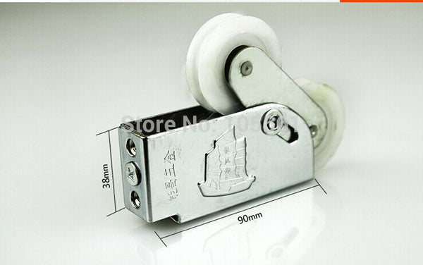 Aluminum alloy doors and windows sliding parts pulley old aluminum alloy window fittings pulley type 90 wheel