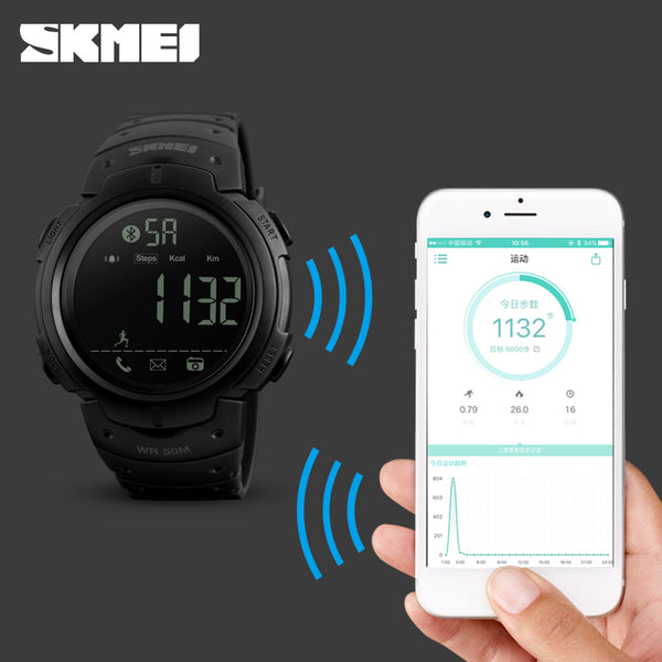 Sport Smart Watch Men SKMEIPedometer Remote Camera Calorie Bluetooth Reminder Digital Watch