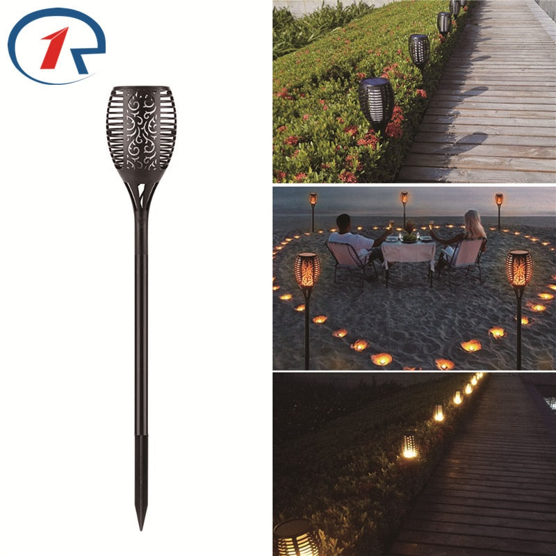 ZjRight 96 led flame effect Garden Path Torch