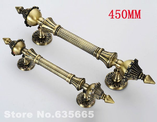 European-style Classic Zinc Alloy Villas Antique Wooden Door Glass Door Handle Steel Pull Door