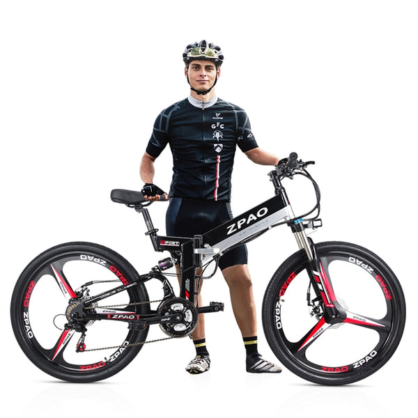 High Quality Folding Electric 350W Mountain Bike, 48V 10.4Ah Lithium Battery