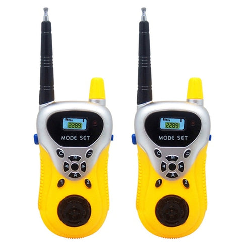 2Pcs/lot Professional  Handheld Intercom Electronic Interphone Kids Mini Walkie Talkie