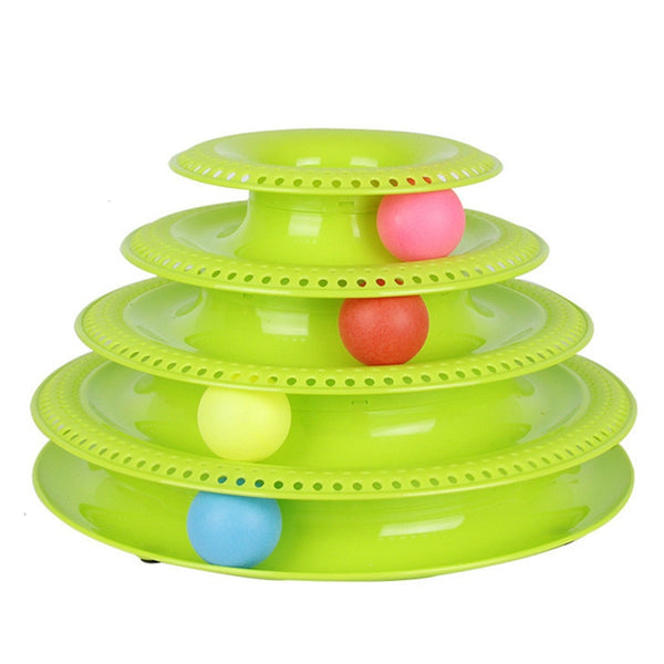 Pets Interactive Toys Cats Three-tier / Four-tier Turntable Pet Intellectual Track Tower