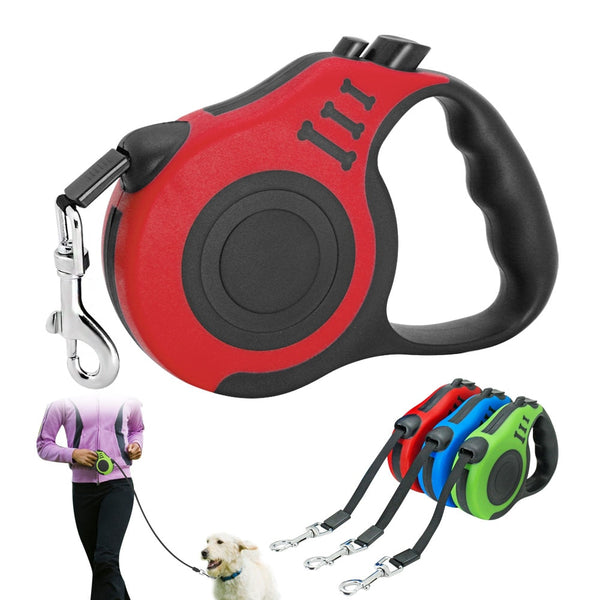 3M/5M Retractable Puppy/Dog Leash -Running Walking Extending Lead For Small Medium Dogs