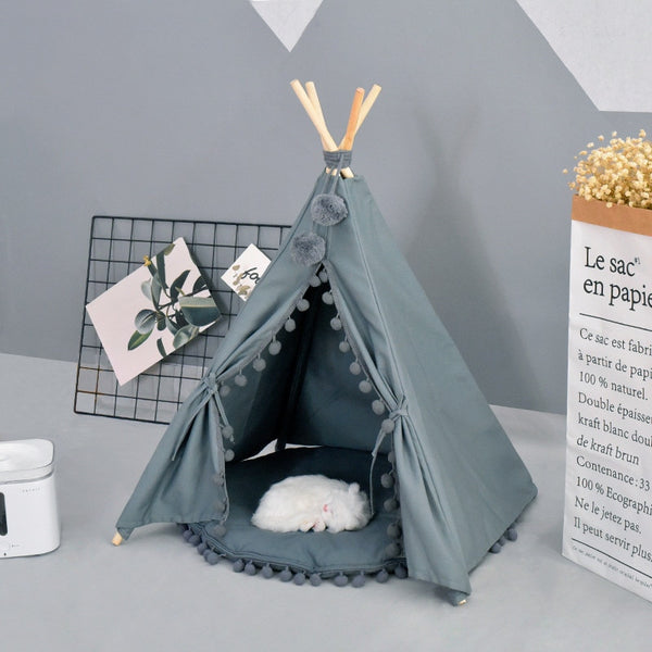 Creative dog cat tent bed removable cozy house for puppy dogs cat small animals home