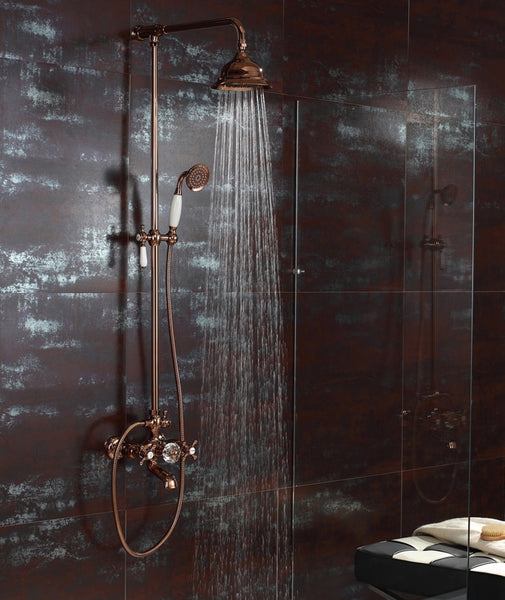 Rose Gold  Rainfall shower and bath faucet mixer  tap