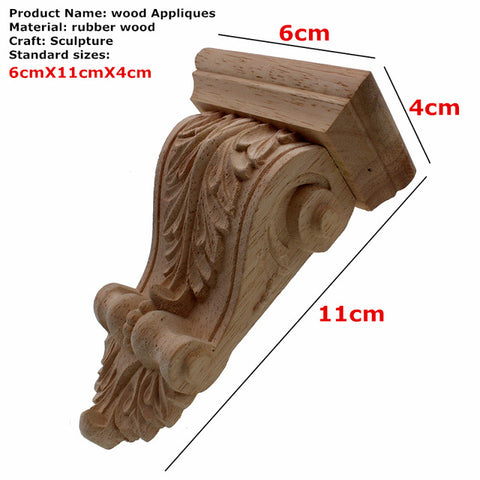 Natural Oak Wood Carved Applique, Corbel