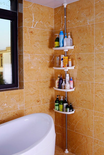 Adjustable Bathroom Organiser Corner Shower Shelving Unit Rack Shelf Caddy Storage Rack