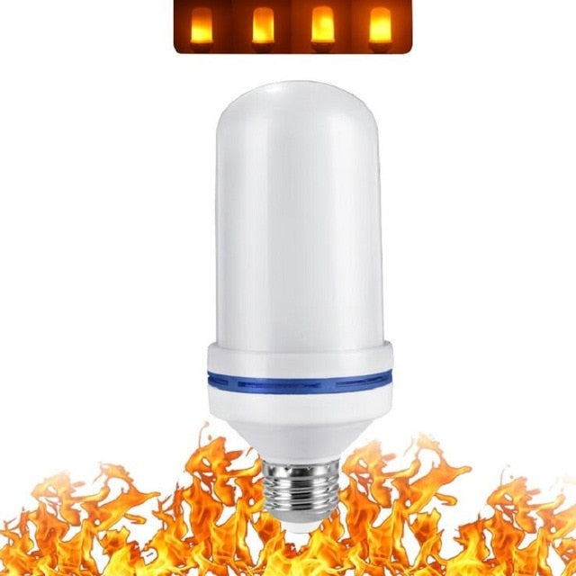 LED E27 E26 B22 E14 E12 Bulb Flame Effect Fire Lamps Flickering  3W 5W 7W 9W Decor LED Lamp AC85-265V