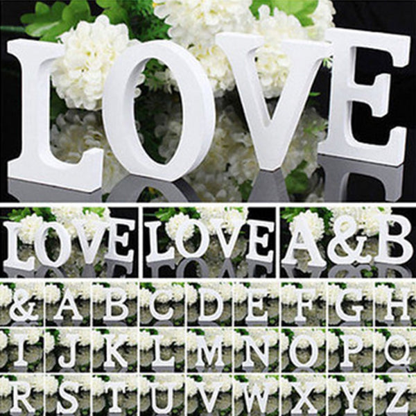 1pc White Wooden Letters - Alphabet-Personalized