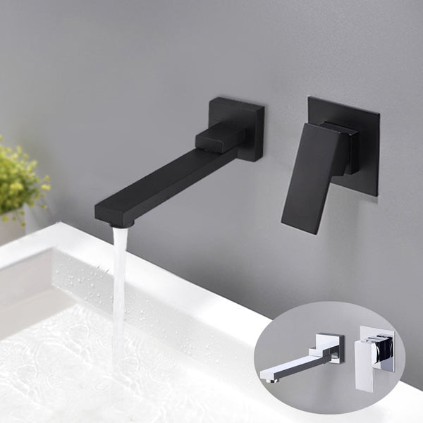 Wall Mounted Basin Faucet Rotatable Bathtub Faucet Spout