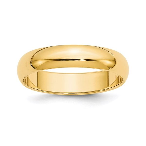5MM  Gold Wedding Band