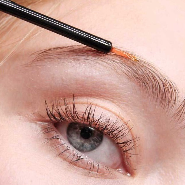 Load image into Gallery viewer, Close up of long lash being applied to eyebrow