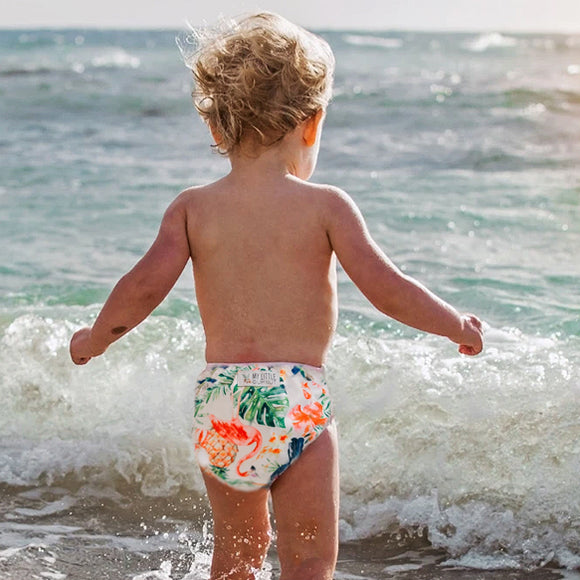 My Little Gumnut Swim Nappies baby Tropical