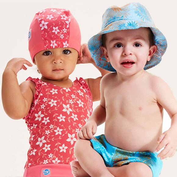 Children's sun hats swim caps kids babies