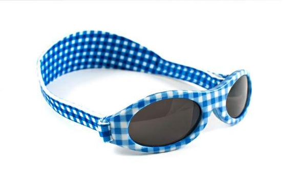 Adventure Banz Wrap Around Sunglasses - Blue Check - Clearance