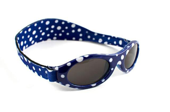 Adventure Banz Wrap Around Sunglasses - Blue Dot - Clearance