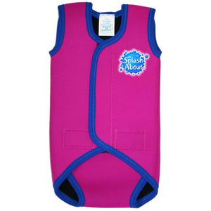 Splash About Baby Wrap - Pink with Blue Binding - Clearance
