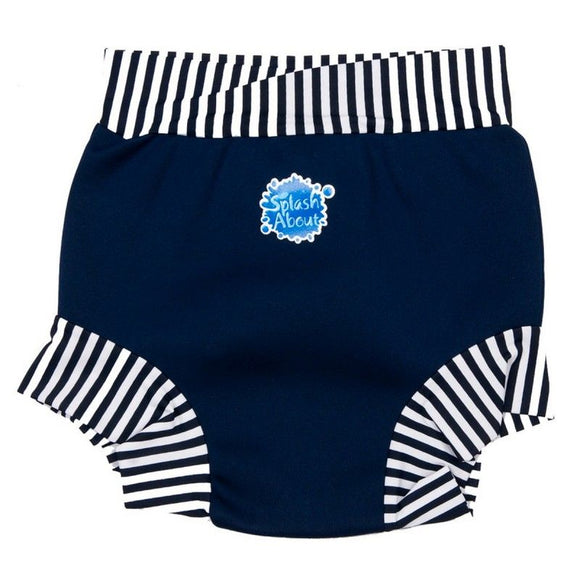 Splash About Splash Shorts - Adult Disability - Blue with White Stripes