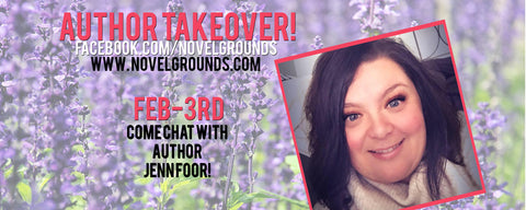 AUTHOR TAKEOVER! Jenn Foor at 8pm! Giveaways, Trailers, and FUN!