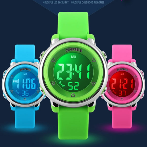 SKMEI Children's Back Light Sports Watch