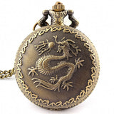 Dragon Pocket Watch with Fob Chain