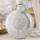 Exquisite Retro Pendant Pocket Watch With Silver Necklace