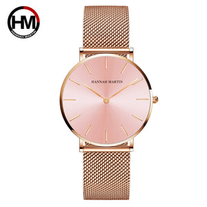 Hannah Martin Quartz High Quality Stainless Steel Watch