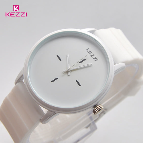 Kezzi Black White Silicone Watch
