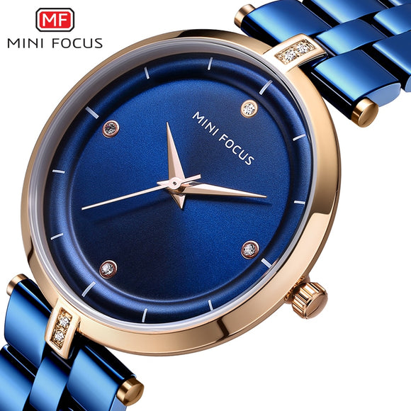 MINI FOCUS Luxury Quartz Stainless Steel Watch